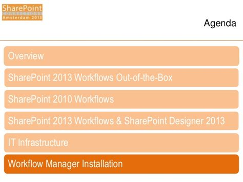 sharepoint 2013 workflow installation spca2013 windows workflow manager for the it pro
