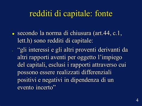 tassazione redditi diversi redditi di capitale e redditi diversi ppt scaricare