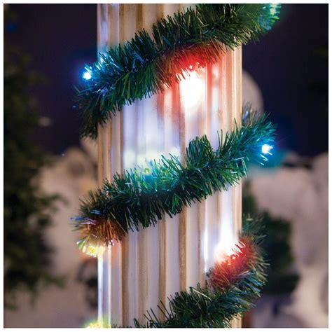 18 ft lighted pine garland with multi color 35 light