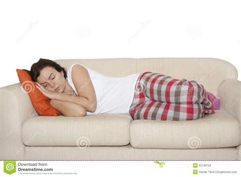 on a couch video woman sleeping on couch stock images image 22749754