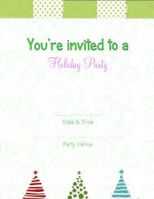 Festive christmas invite the holiday design on top and the christmas
