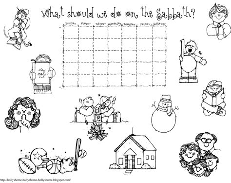 lds coloring pages sabbath day hollyshome church fun what should we do on the sabbath