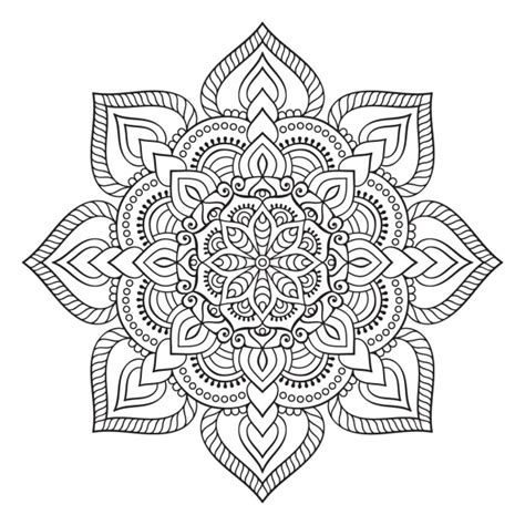 mandala coloring pages vector boho style ornament design vector free