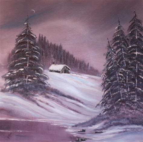 bob ross painting list bob ross winter moon paintings bob ross winter moon