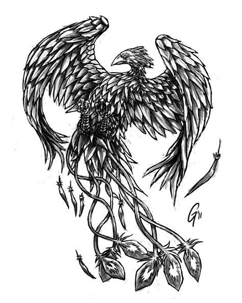 black n white phoenix by darkalimhero on deviantart