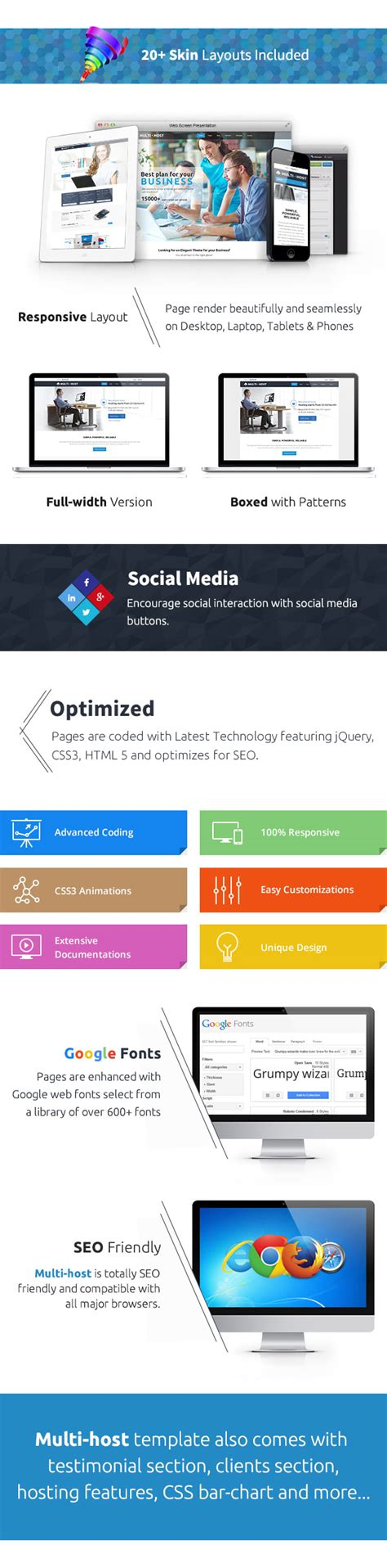 layout page null multi host responsive hosting template null themes
