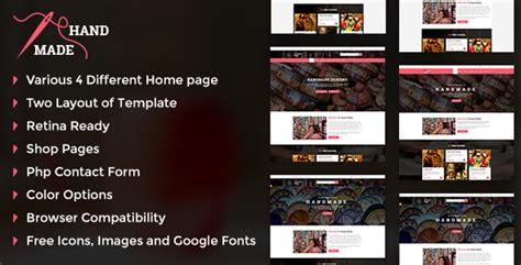 Handmade Products Website - handicraft handmade product shop template nulled
