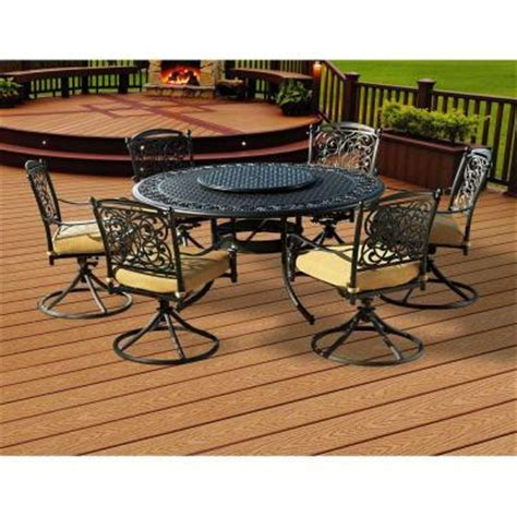 home depot patio dining sets sunjoy garden grove 8 patio dining set l dn366sal 3