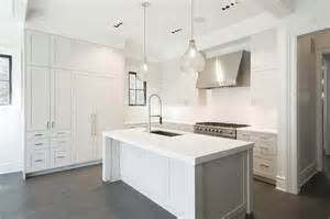 White Kitchen Islands by White Kitchen Island With Two Seeded Glass Pendants