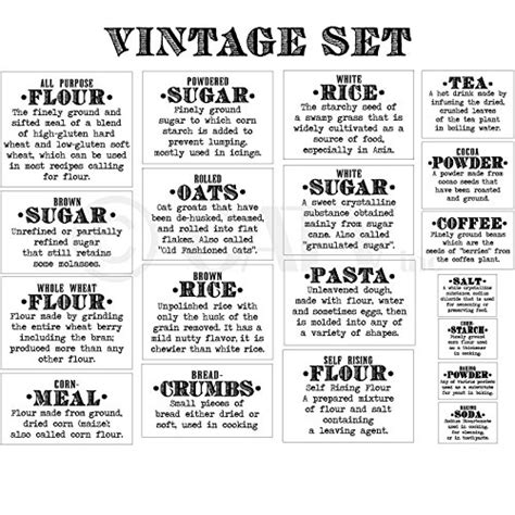 Amazon Com Basics Definition Vintage Font Flour Sugar Oats Rice | basics definition vintage font flour sugar oats rice