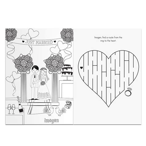 Wedding Activity Book Cover by Personalised Wedding Activity Book For Children S