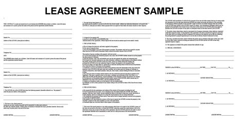 appartment lease blank lease agreement exle masir