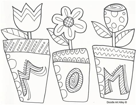 mothers day coloring mothers day coloring pages doodle alley