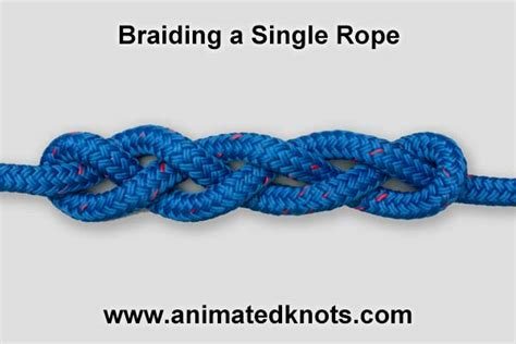 How To Tie A Knot With 3 Strings - braid how to braid a single rope knots