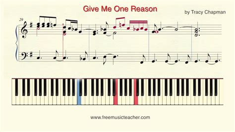 reason piano roll tutorial piano ideas how to play piano quot give me one reason quot by tracy chapman