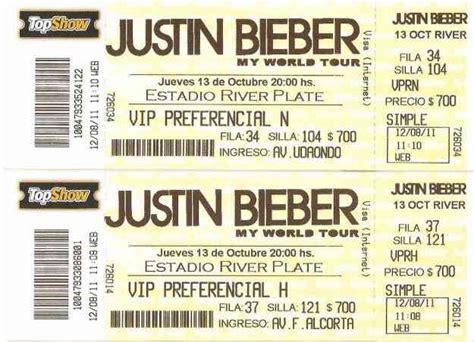 imagenes de boletos vip entradas justin bieber en argentina vip preferencial