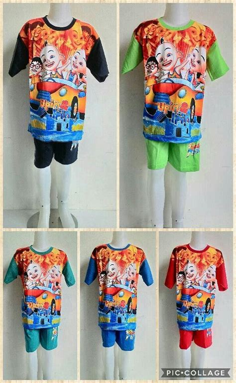 Baju Anak Upin Ipin jual beli baju setelan kaos upin ipin baru jual beli