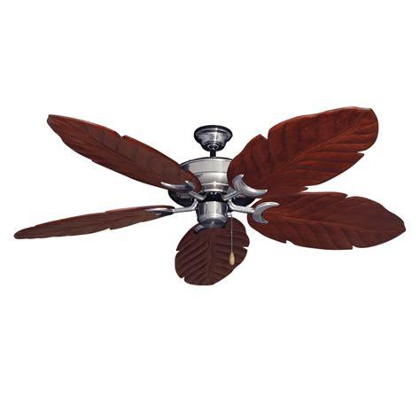 Leaf Ceiling Fan Blades by Brushed Steel Raindance 125 Series Ceiling Fan Real Wood