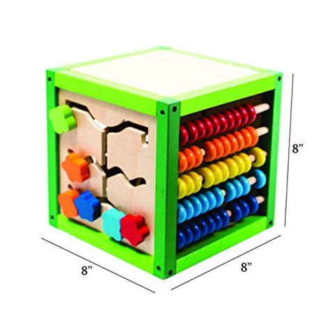 my learning bead maze cube activity center by