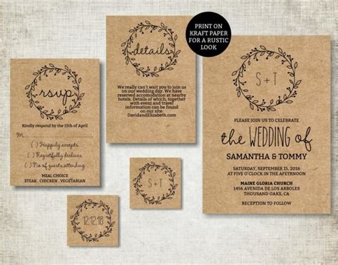 exle simple wedding invitations wedding invitation template classic wreath wedding invite