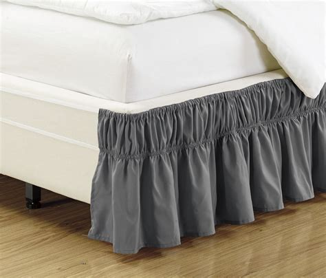 elastic bed skirts easy fit elastic bed ruffles bed skirt twin full solid