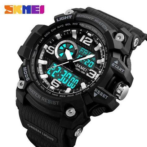 Jam Tangan Pria Skmei Speedometer Dual Time Original Anti Air jual jam tangan pria dual time skmei sport led original ad1283
