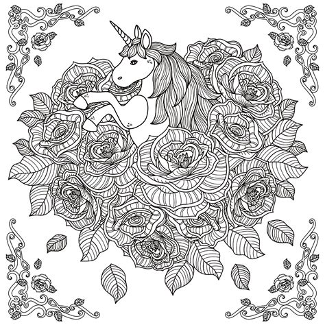 gogh coloring book grayscale coloring for relaxation coloring book therapy creative grayscale coloring books pages unicorn mandala by kchung myths legends