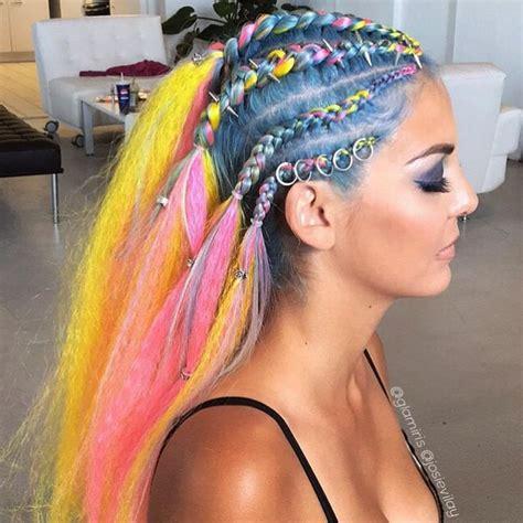 cheap haircuts winnipeg neon braids featuring regal rose hair rings hair bead