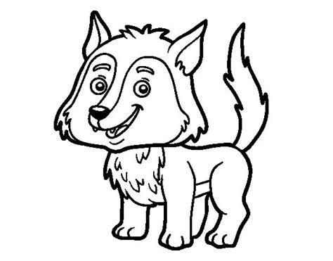 imagenes para dibujar un lobo desenho de lobo jovem para colorir colorir com
