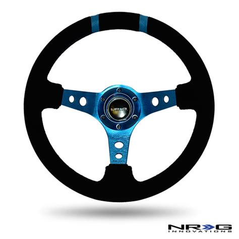 Blue W Limited nrg limited edition 350mm sport suede steering wheel 3