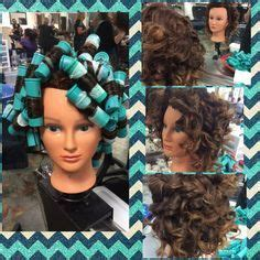 step by step boomerang perm spiral perm on boomerang rods pinteres