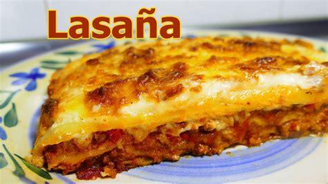 una receta de cocina facil receta lasa 209 a de carne molida y queso recetas de cocina