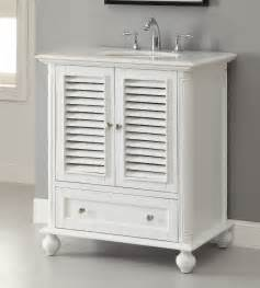 30 Inch Bathroom Vanity With Top Adelina 30 Inch Cottage White Finish Bathroom Vanity White Marble Counter Top