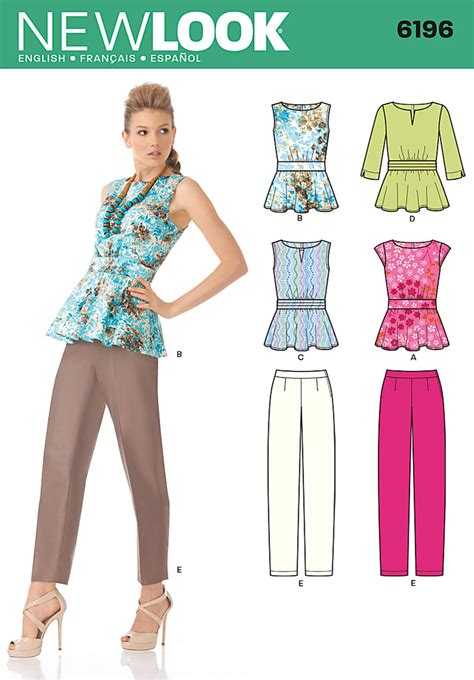 pattern review best patterns 2013 new look 6196 misses tops