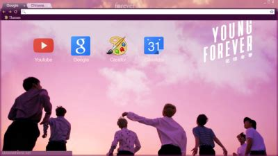 bts young forever chrome theme themebeta young forever chrome themes themebeta