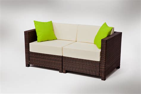 Rattan Sectional Sofa Indoor by Mcombo 9pcs Brown Wicker Patio Sectional Outdoor Sofa