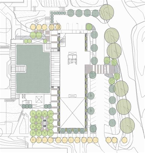 site layout of the building warnock engineering building g brown design