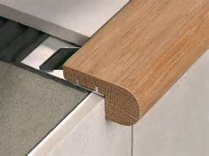 Wood Stair Edging by Stair Nosing In Oak Wood With Aluminium Support Stairtec