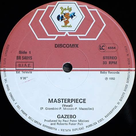 gazebo masterpiece retro disco 80s gazebo masterpiece maxi single 1982