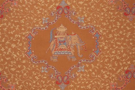 Elephant Upholstery Fabric by Elephant Tapestry Upholstery Fabric In Cognac 14 95 Per Yard