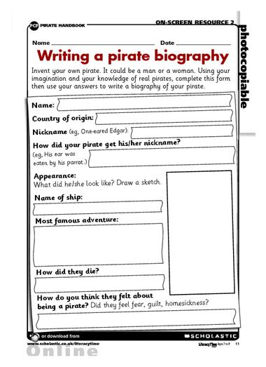 Biography Rubric Ks2 | pirate biography school ideas pinterest teaching