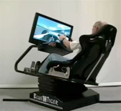 moving flight simulator chair blue tiger motion simulator for more realistic
