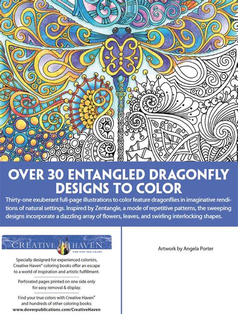 libro creative haven entangled dragonflies 467 best images about coloring pages for adults on gel pens coloring for adults and