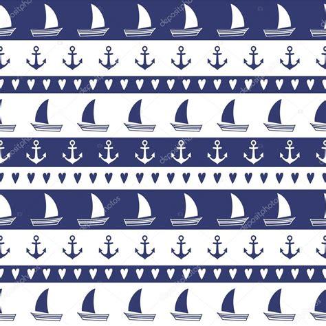 navy pattern vector navy vector seamless pattern anchor sailboat heart