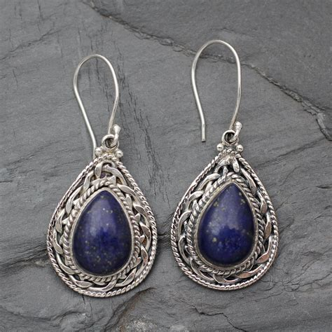 Handmade Sterling Silver Earrings Uk - unicef uk market handmade sterling silver and lapis