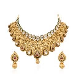 Handmade Gold Necklace - necklaces antique handmade pear shape chokker