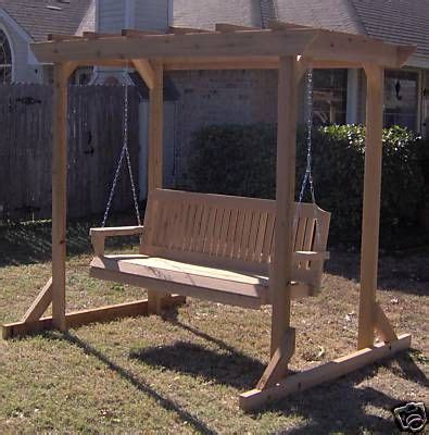 how to build a freestanding porch swing arbor swing free standing diy pinterest
