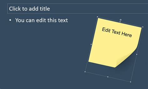 How To Add Custom Sticky Notes To Powerpoint Presentations Slidemodel Editable Post It Note Template