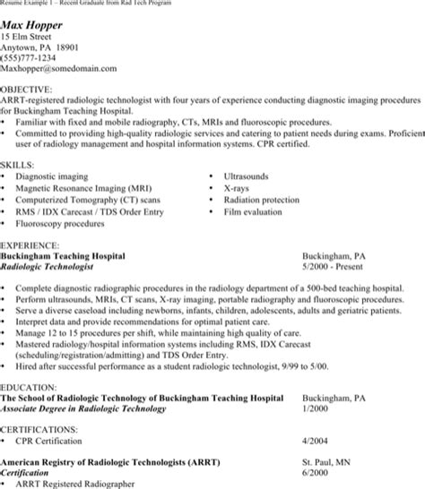 Ultrasound Resume Exles by Ultrasound Technician Resumes For Free Formtemplate