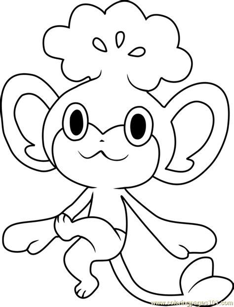 pokemon coloring pages purrloin 83 pokemon coloring pages pansage pansage a monkey